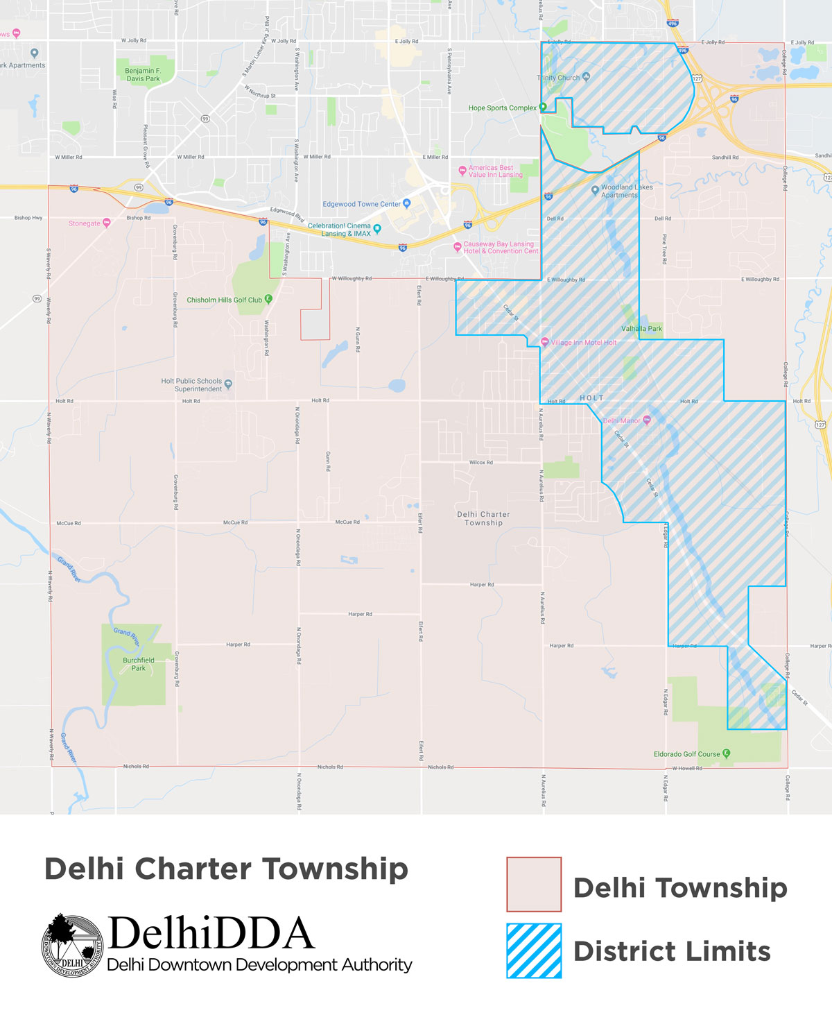 DDA Map | Delhi Downtown Development Authority Delhi Direction Map on
